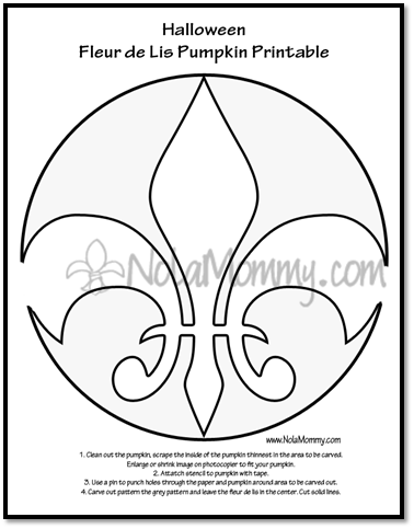 photograph relating to Fleur De Lis Stencil Printable referred to as Fleur de lis LSU #1 Pumpkin Carving Absolutely free Printables
