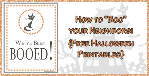 Boo Your Neighbor | Free Printable