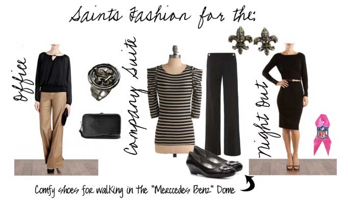 more photos 82d63 7d9e3 New Orleans Saints Fashion - NOLA Mommy