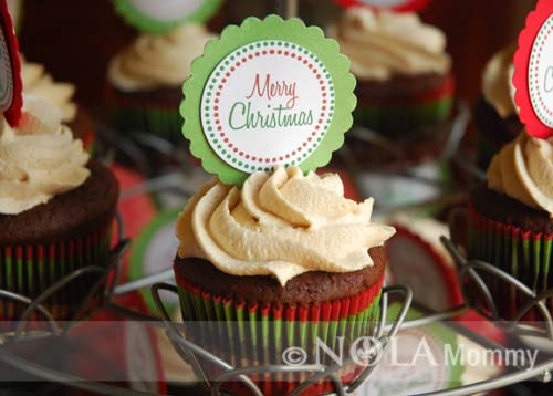 Christmas Cupcake Toppers Free Printable.Merry Christmas Cupcake Toppers Nola Mommy