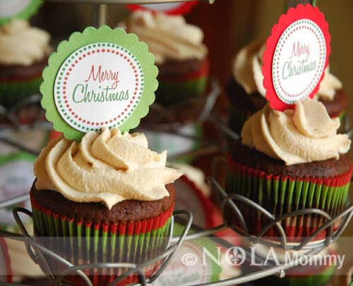 Christmas Cupcake Toppers.Merry Christmas Cupcake Toppers Nola Mommy