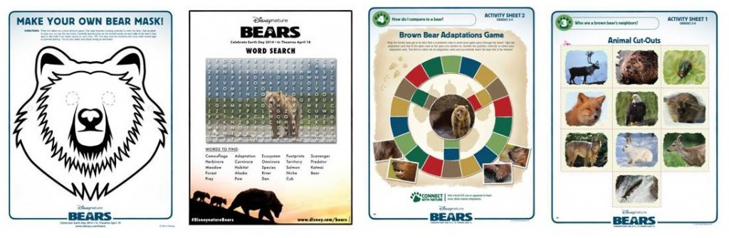 Bears Activity Sheets